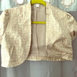 Gold tan (shimmer stitch blend) jacket